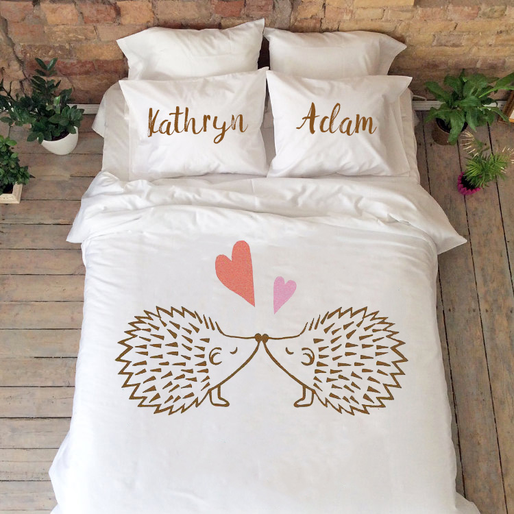 Bedding Set Hedgehogs Perfect As 2nd Year Cotton Anniversary Gift Bridal Shower