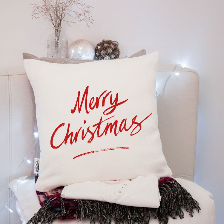 """Christmas Throw Pillow """"Festive Christmas"""" - Fantastic gift for family, friends and loved"""