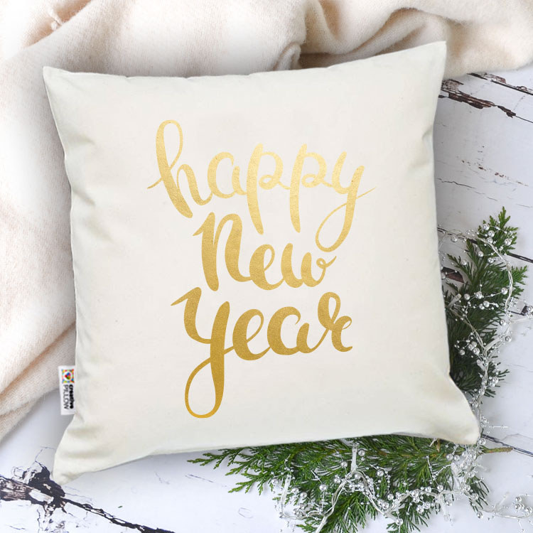 """Christmas Throw Pillow """"Happy New year for You"""" - Fantastic gift for family,"""
