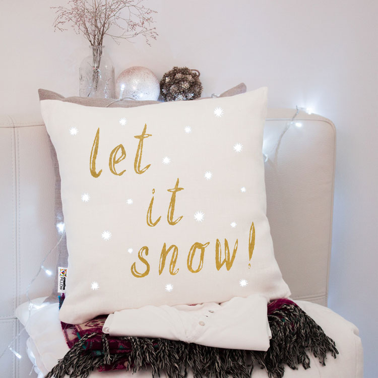 Christmas Throw Pillow White Snowflakes Creative Pillow