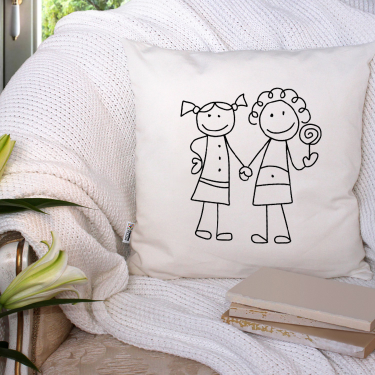 "Throw Pillow ""Girly"" Perfect Lesbian Gift Idea Adorable Girly Decorative Pillows"